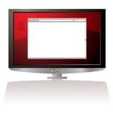 Monitor vermelho do web browser do LCD ilustração royalty free