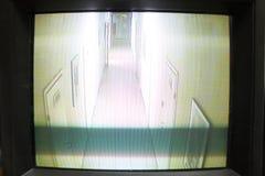 Monitor video de la seguridad Foto de archivo libre de regalías