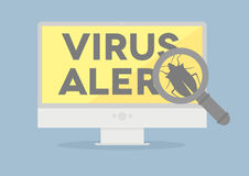Monitor Virus Royalty Free Stock Photos