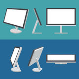 Monitor web vector icons set Stock Photo