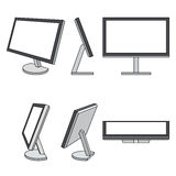 Monitor web vector icons set Royalty Free Stock Image