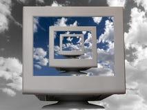 monitor white Obraz Royalty Free