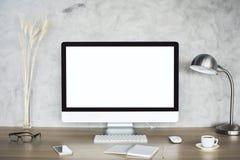 monitor white zdjęcia stock