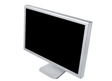 Monitor on white background Stock Images