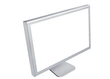 Monitor on white background Royalty Free Stock Photos