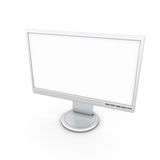 Monitor with a white screen to insert images Royalty Free Stock Image