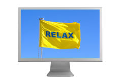 Monitor with a word relax Stock Images