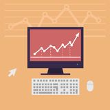 Monitor, workstation desk vector illustration Stock Photo