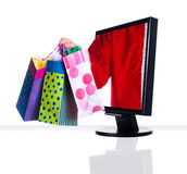 Monitor Xmas Royalty Free Stock Images