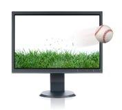 Monitor y béisbol Foto de archivo libre de regalías