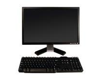 Monitor y teclado de escritorio Imágenes de archivo libres de regalías