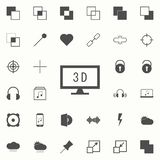 monitor z 3d ikoną sieci ikon ogólnoludzki ustawiający dla sieci i wiszącej ozdoby ilustracja wektor