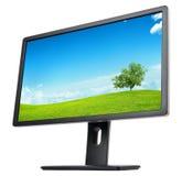 Monitor z krajobrazem na ekranie Zdjęcie Stock