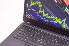 Monitoração da bolsa de valores Fotografia de Stock Royalty Free