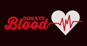 A monitoração da frequência cardíaca doa o cartão do sangue ilustração stock