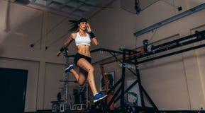 Monitoração do movimento e de desempenho do corredor em l biomecânico Imagem de Stock