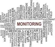 Monitoração - nuvem da palavra Fotografia de Stock