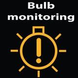 Monitoraggio della lampadina Indicatori del pannello del cruscotto dell'automobile Segnali di pericolo/luci Illustrazione di vett Immagine Stock