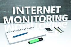 Monitoraggio di Internet Fotografia Stock Libera da Diritti