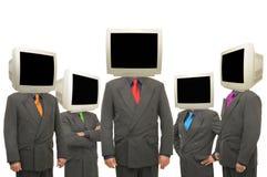 Monitore as cabeças imagem de stock royalty free