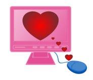 Monitore corações do rato Imagens de Stock Royalty Free