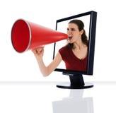 Monitore o megafone Fotos de Stock