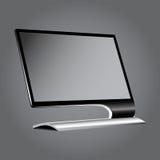 Monitore o plano em uma vinheta cinzenta do fundo EPS10 Fotografia de Stock