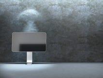 Monitore perto da parede do beton Foto de Stock