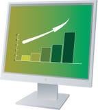 Monitore vendas ilustração royalty free