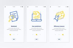 Free Monitored, User Predictions, Efficiency Measure Vertical Cards With Strong Metaphors. Royalty Free Stock Images - 126991699