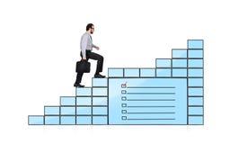Monitoren mit Checkliste lizenzfreie stockfotos