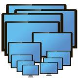Monitores del vector Fotografía de archivo