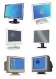 Monitores do computador ilustração royalty free