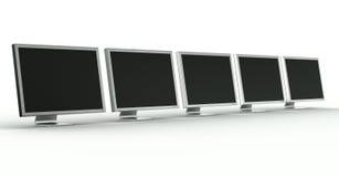 Monitores múltiples Imagen de archivo libre de regalías