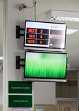 Monitores no escritório Imagens de Stock Royalty Free