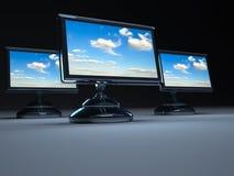 Monitores planos del lcd Imagen de archivo