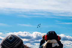 Monitoring of air show Royalty Free Stock Photography