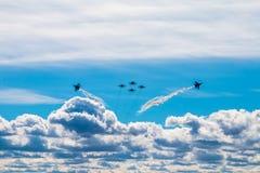 Monitoring of air show Royalty Free Stock Image