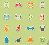 Monitoring apps icon set Stock Images
