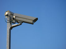 Monitoring camera. S on the ground of a industrial area Royalty Free Stock Images
