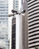 Monitoring cameras on the streets Stock Photos