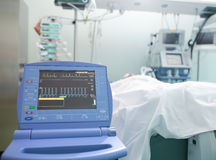 Monitoring of cardiac function unconscious patient Royalty Free Stock Photo