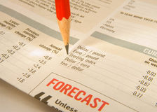 Monitoring currency movements; exchange rate. Royalty Free Stock Images