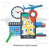 Monitoring of freight transport concept Stock Image