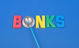 Monitoring the health of the banks. Royalty Free Stock Photo