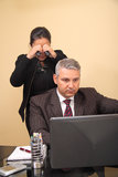 Monitoring husband royalty free stock images