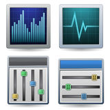 Monitoring Icon Set Royalty Free Stock Photos