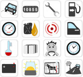 Monitoring icons. Detail a vehicle Stock Photo