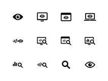 Monitoring icons on white background. Observation and Monitoring icons on white background. Vector illustration Royalty Free Illustration