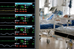 Monitoring in ICU. With patients stock photography